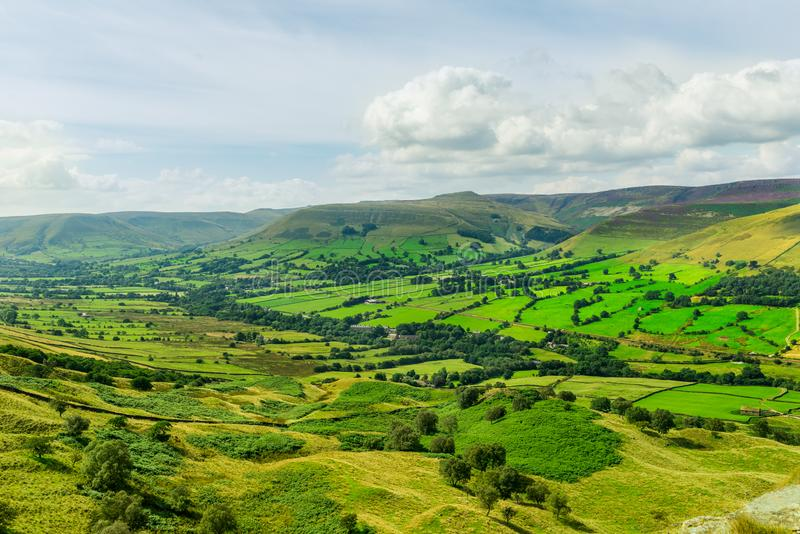 Mam Tor hill near Castleton and Edale in the Peak District Park. Mam Tor hill near Castleton and Edale in the Peak District National Park, England, UK stock images
