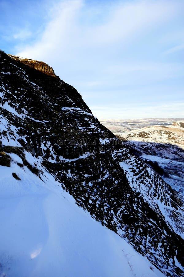 Mam Tor mountain, Derbyshire, UK. stock photos
