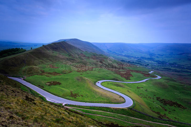 MaM Tor in the peak district stock image