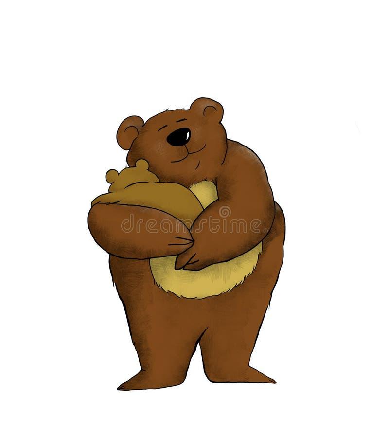 Mama Bear Stock Illustration. Illustration Of Characters