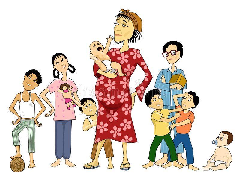 mama bieda ilustracja wektor