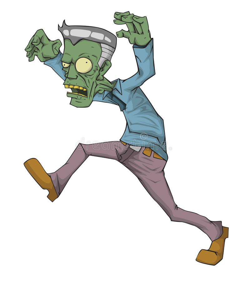 Mama-Charaktervektor Monster in Halloween-Nacht lizenzfreie abbildung