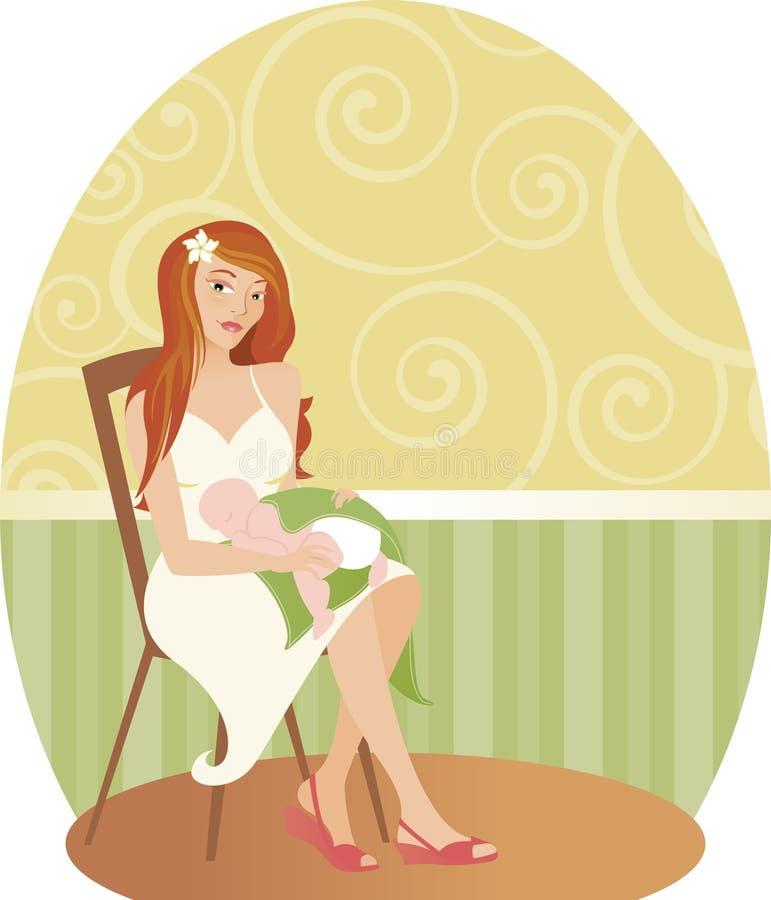 Mama com bebê ilustração royalty free