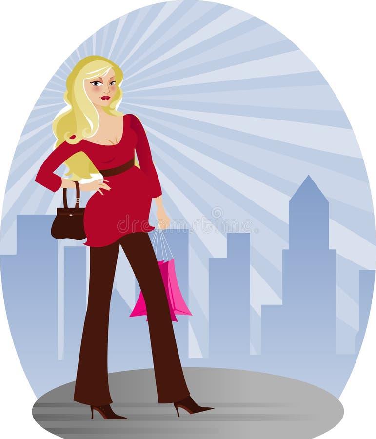 Mama da cidade ilustração royalty free