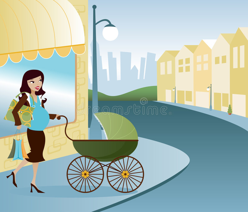 Mama di Mainstreet royalty illustrazione gratis