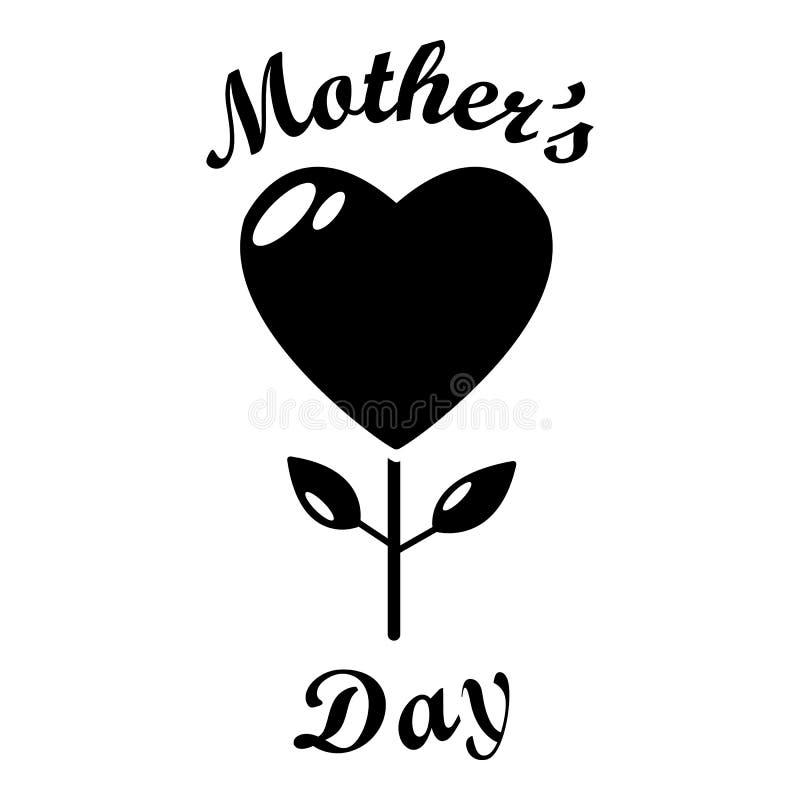 Mama dnia ikona, prosty styl royalty ilustracja