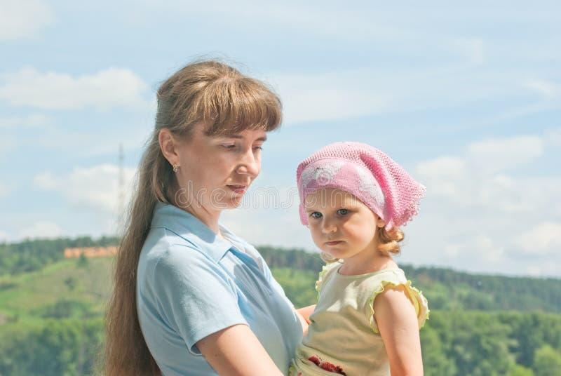 Mama e hija fotografía de archivo libre de regalías