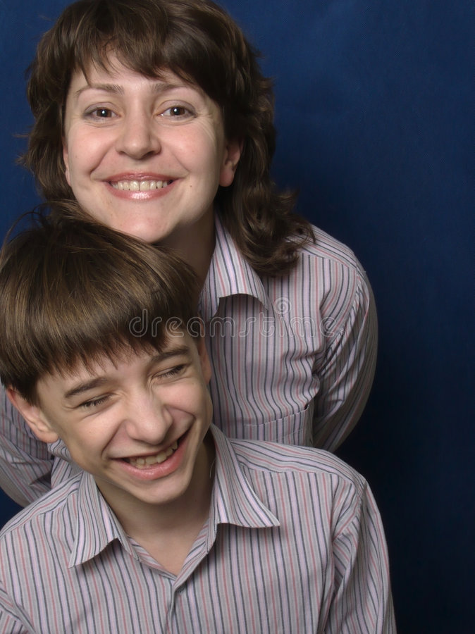 Mama e hijo foto de archivo