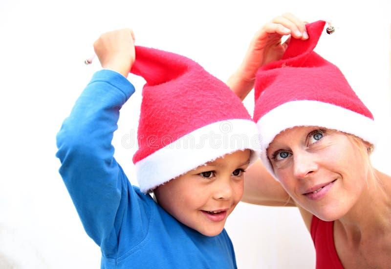 Mama e hijo que se divierten fotografía de archivo