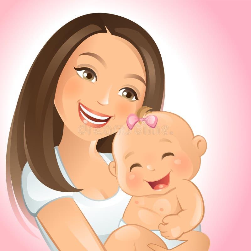 Mama e I stock de ilustración