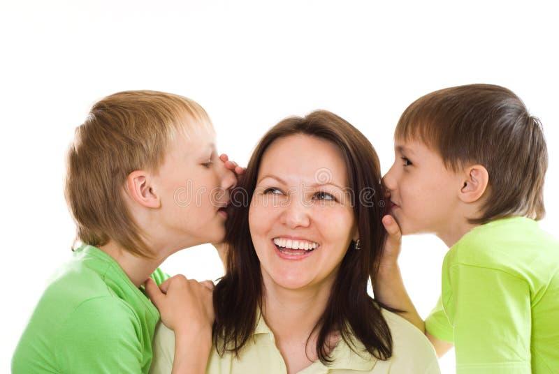 Mama i dzieci obrazy stock