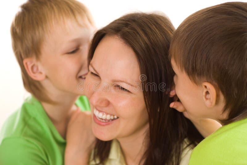 Mama i dzieci zdjęcie royalty free