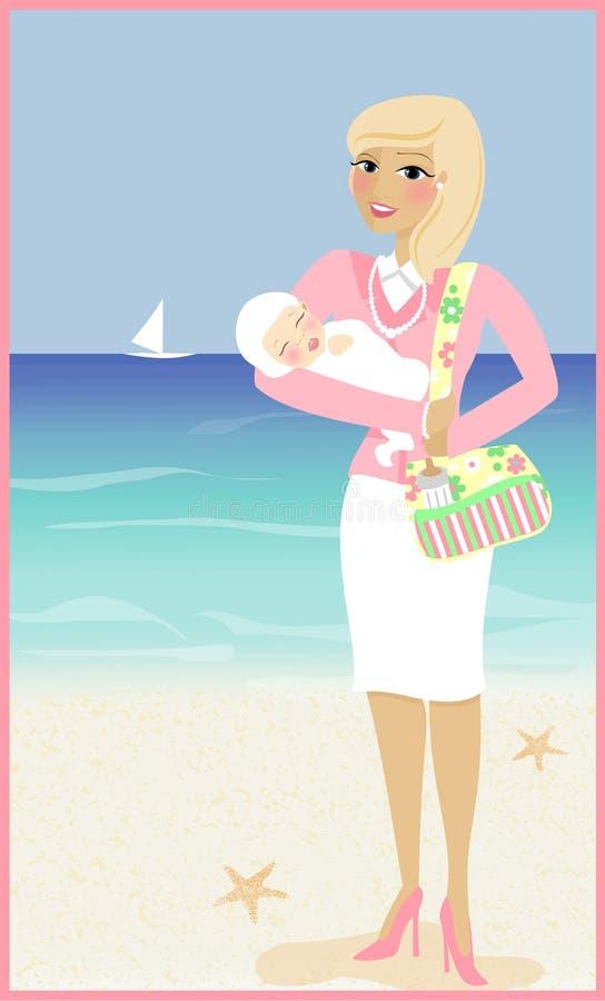 Download Mama i dziecko ilustracji. Obraz złożonej z kobieta, dziecko - 27877173