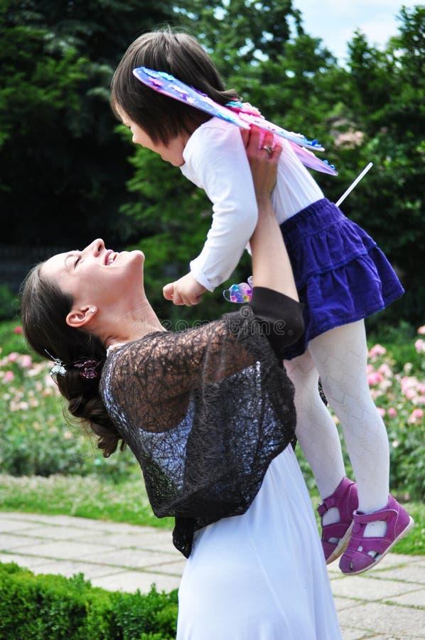 Mama i jej mała córka obrazy stock