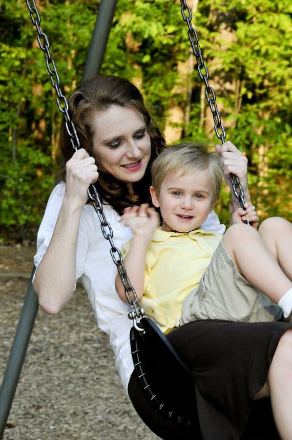 Mama i Syn fotografia stock