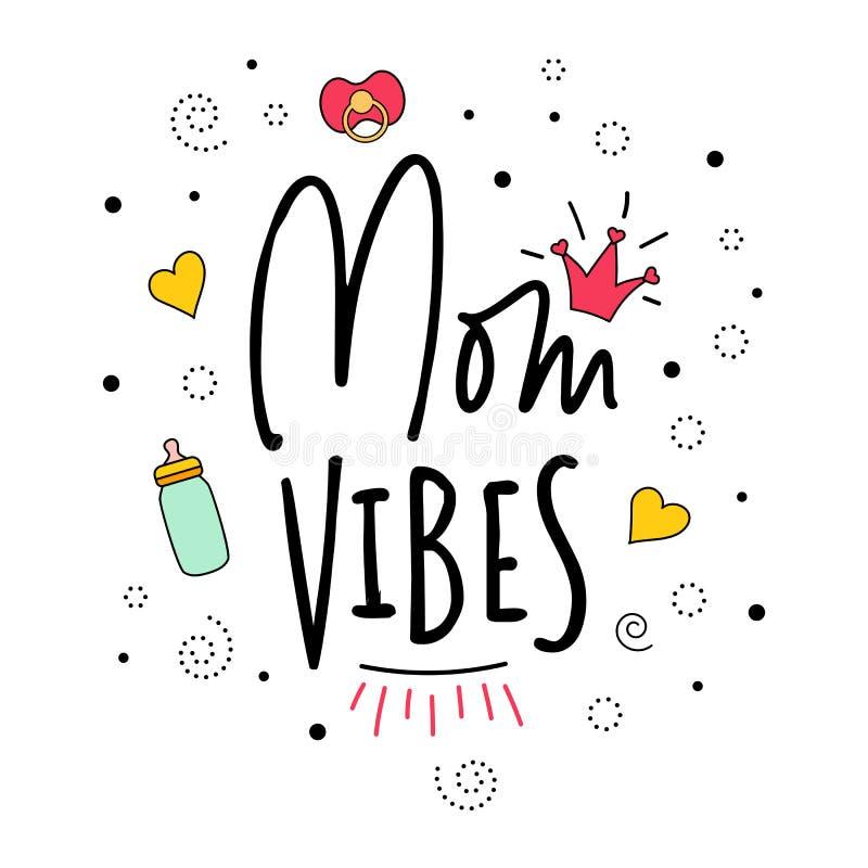 Mama klimatów Macierzystego macierzyństwa wycena ciążowy literowanie ilustracji