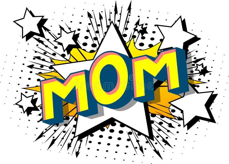 Mama - komiksu stylu słowa royalty ilustracja