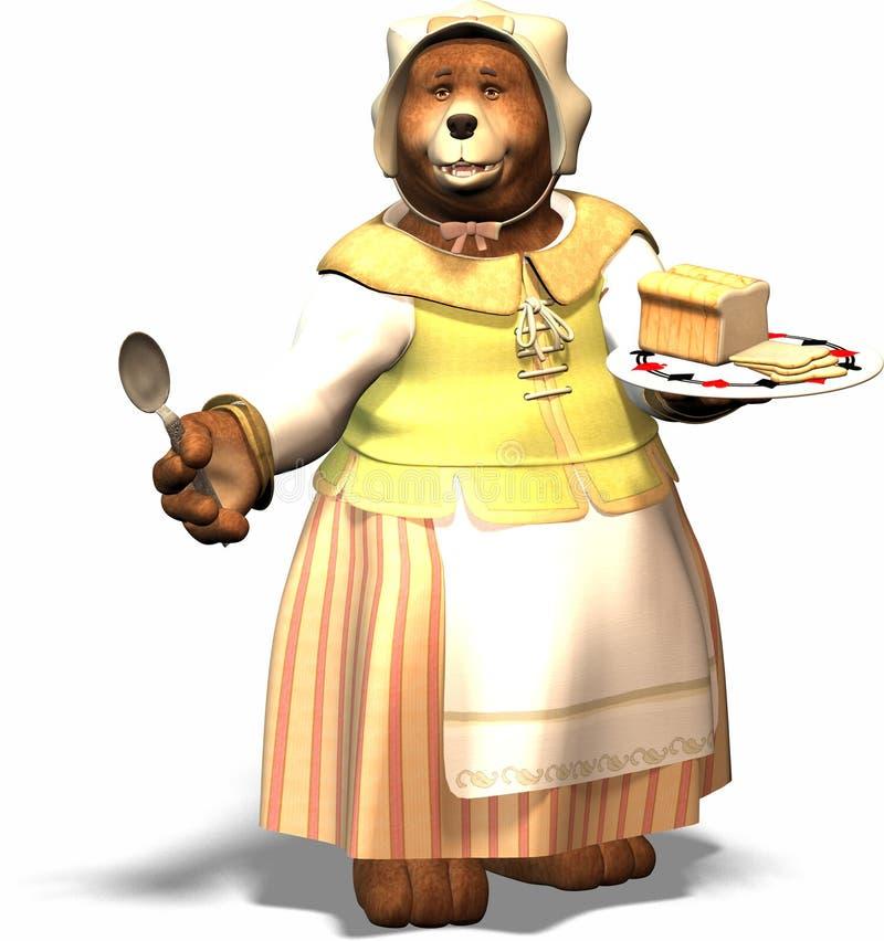 mama niedźwiedzi royalty ilustracja
