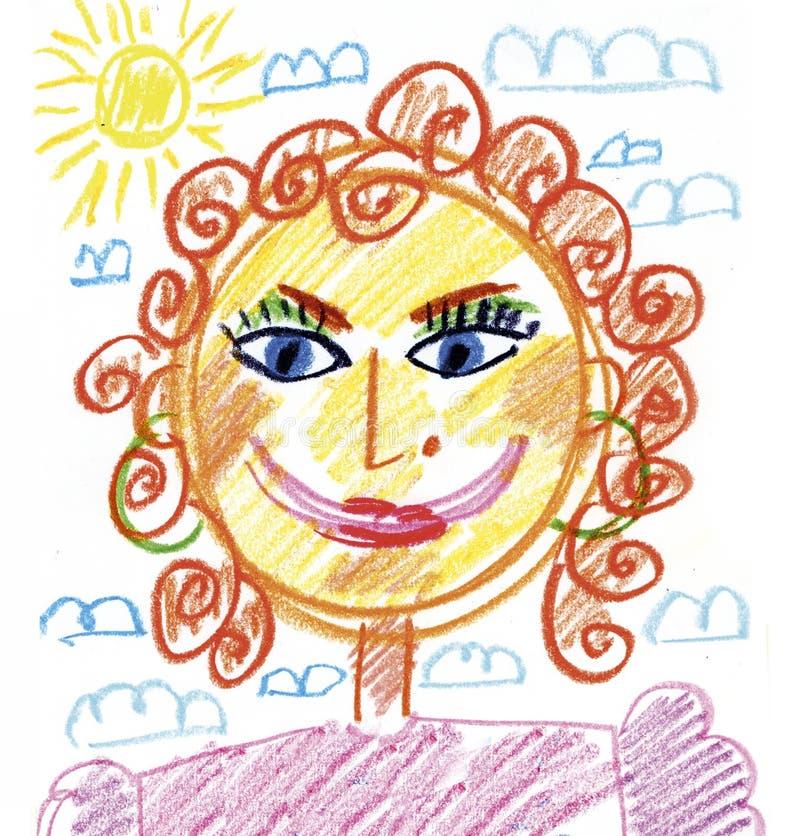 Mama portret ilustracji