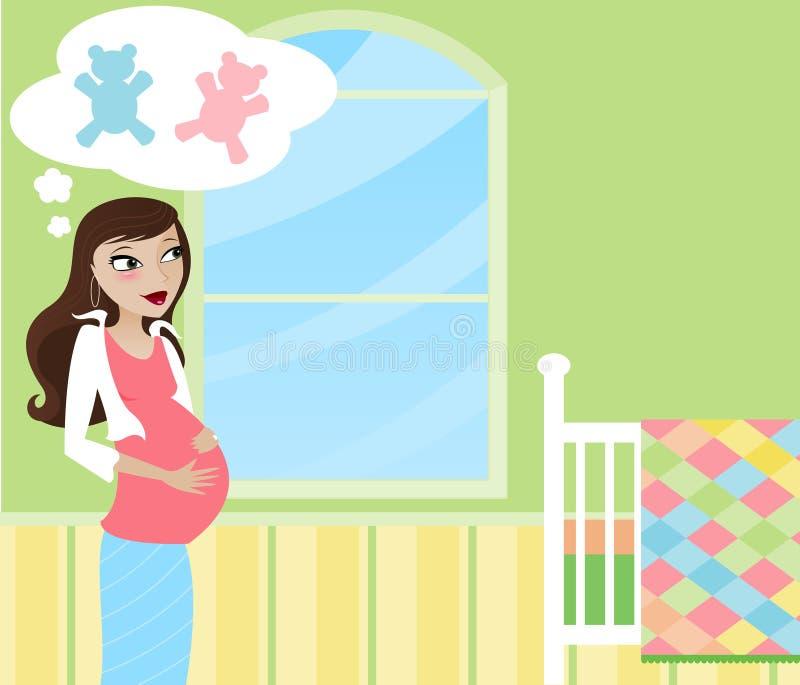 Mama-A-Son las maravillas stock de ilustración