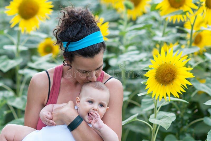 Mama und Baby stockfoto