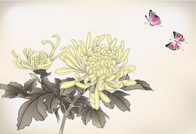 Mama und Schmetterling stock abbildung