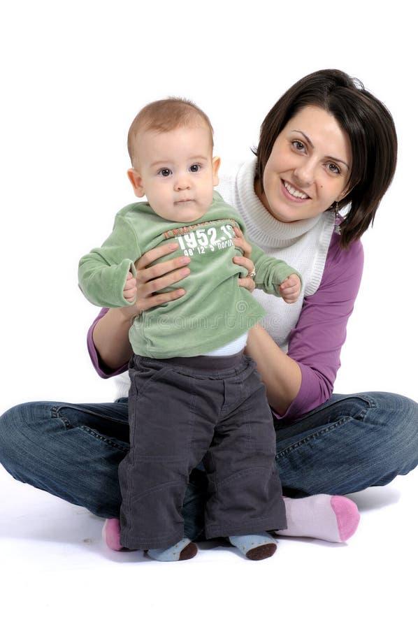 Mama y pequeño bebé foto de archivo libre de regalías