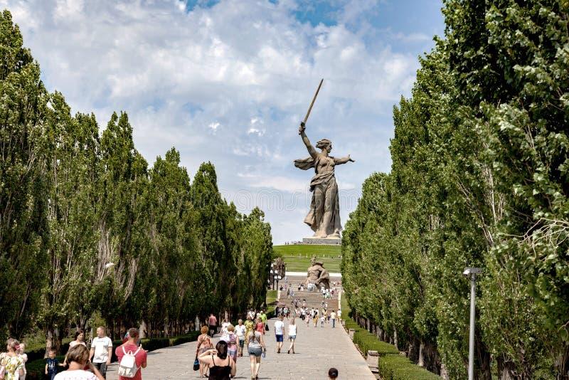 Mamaev Kurgan fotografia stock libera da diritti