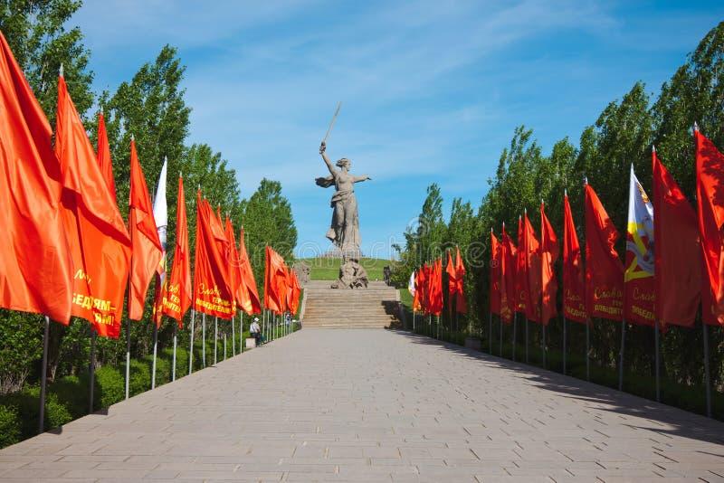 Mamaev Kurgan agli eroi della battaglia Volgograd di Stalingrad fotografia stock libera da diritti
