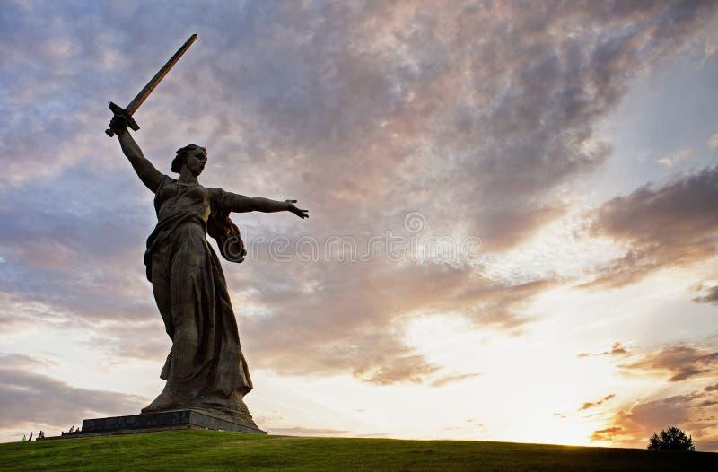 Mamaev Kurgan World War II russian memorial stock photos