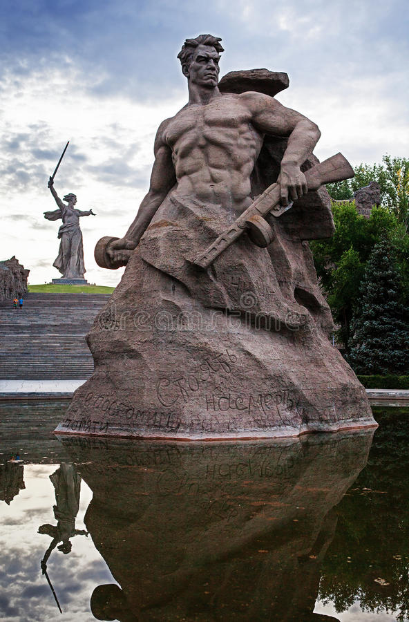 Mamaev Kurgan World War II russian memorial stock photography