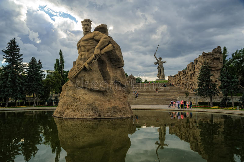 Mamaev Kurgan zabytek Volgograd, Rosja fotografia stock