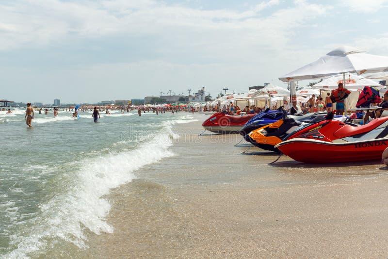 Mamaia海滩 免版税库存照片