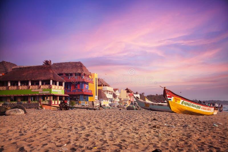 Mamallapuram海滩 库存图片