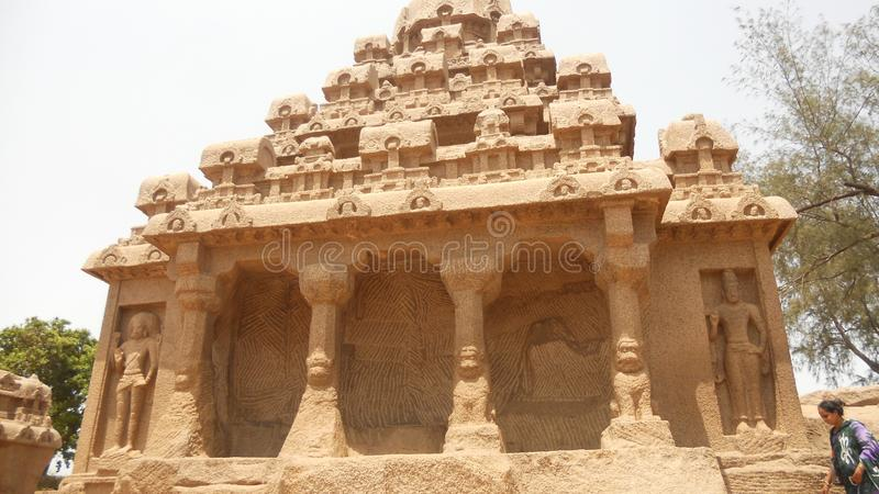 Mahabalipuram the great sclupture sity in sounth Inda royalty free stock image