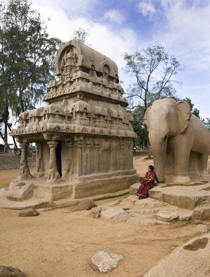 Mamallapuram - Tamil Nadu - l'Inde image libre de droits