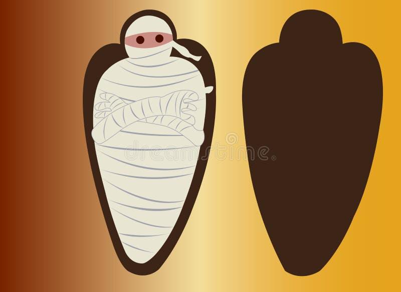 Maman égyptienne 1 illustration stock