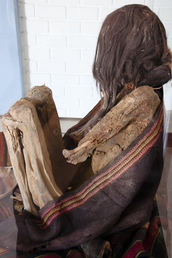 Maman - cimetière de Chauchilla - le Pérou photographie stock