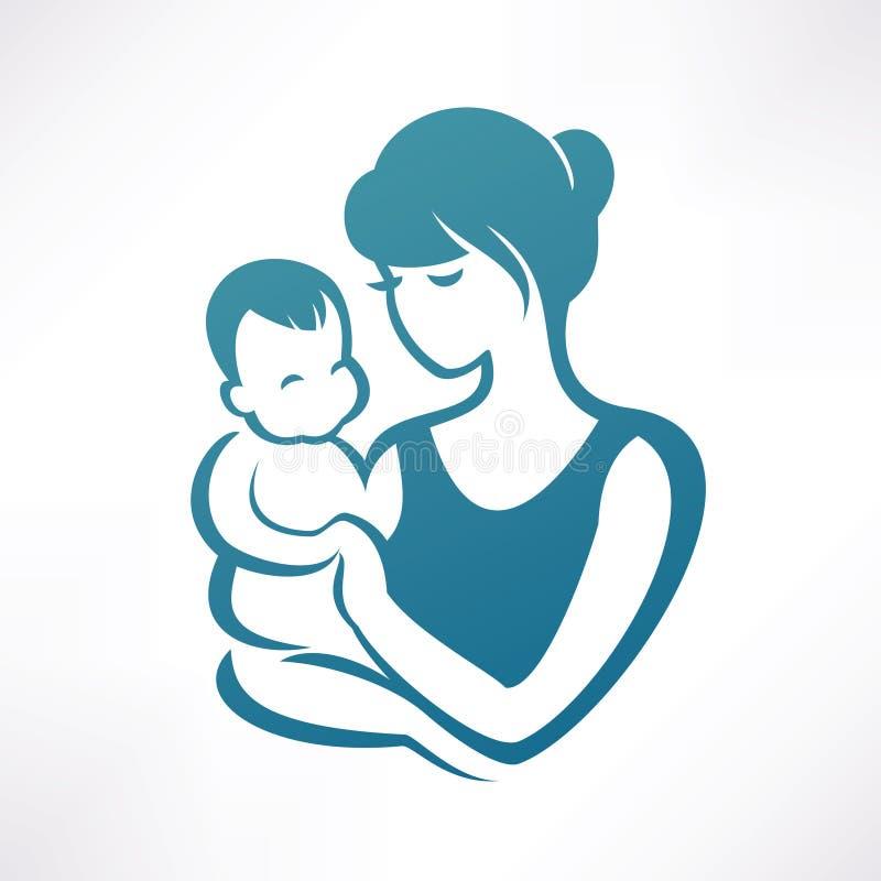 Maman et chéri illustration de vecteur