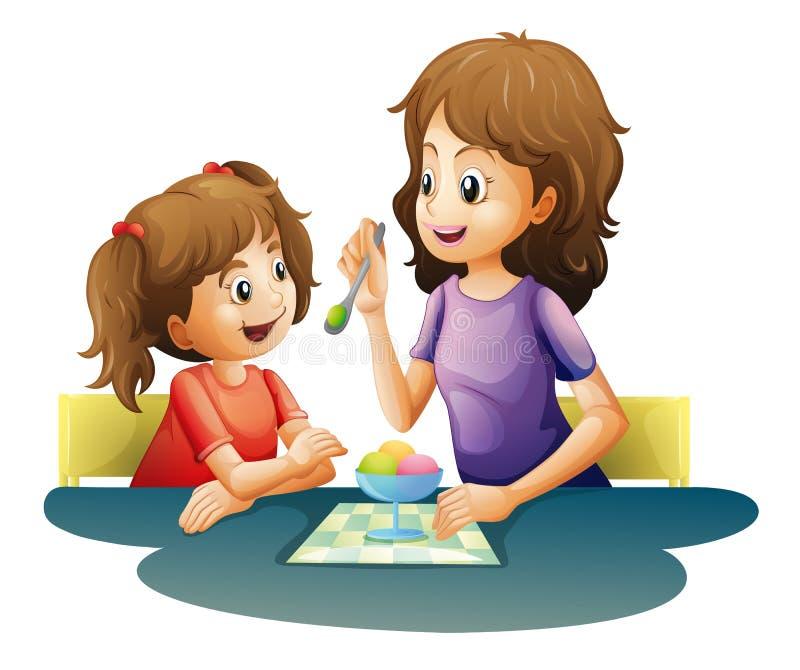 Maman et enfant illustration libre de droits