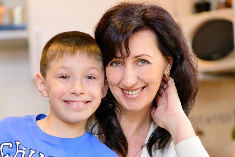Maman et fils photo libre de droits