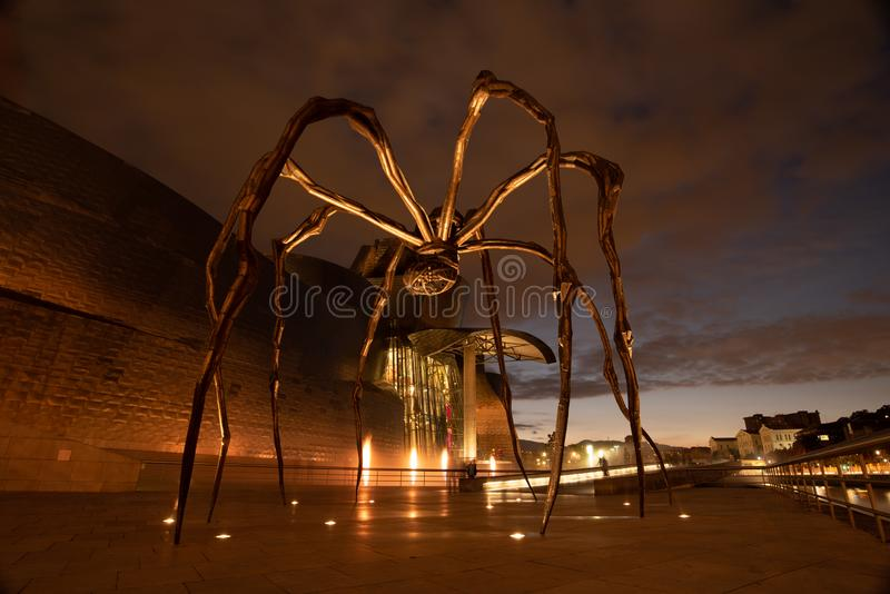 Maman outside of guggenheim museum in Bilbao royalty free stock photos