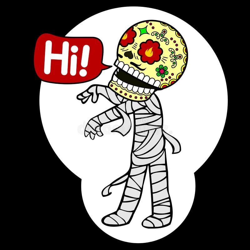 Maman squelettique illustration de vecteur