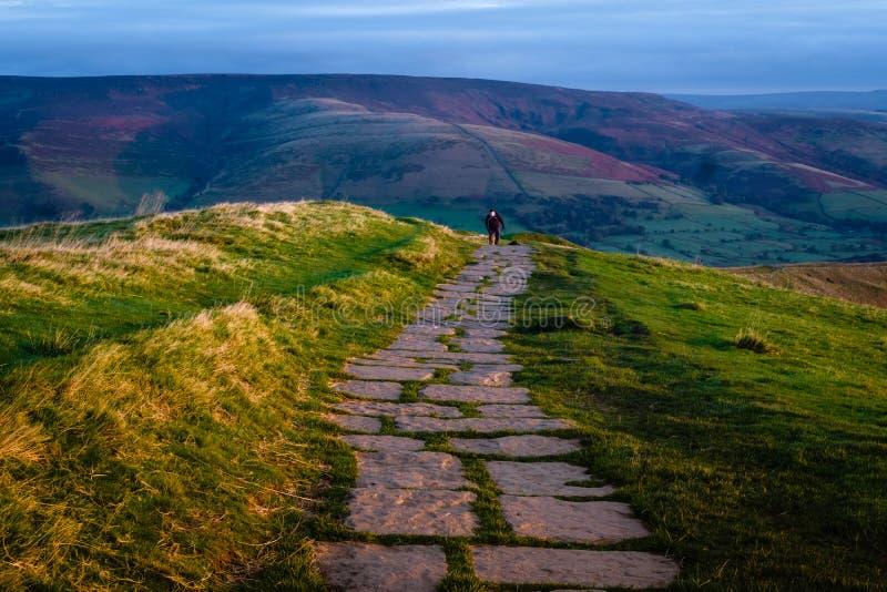Maman Tor Trail, secteur maximal, Angleterre photographie stock libre de droits