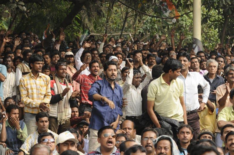 Mamata Banerjee Rally em Kolkata. imagens de stock