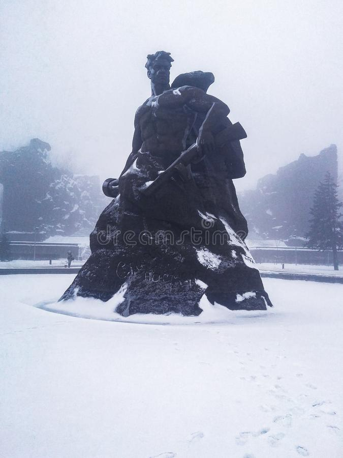Mamayev库尔干,伏尔加格勒,俄罗斯 免版税库存图片