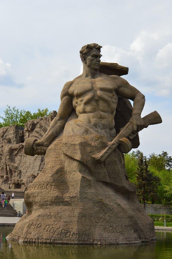 Mamayev Kurgan, Volgograd, Russia. The Monument Fight to the Death / Mamayev Kurgan in 2016 year royalty free stock images