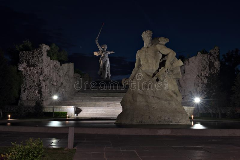 Mamayev Kurgan, Volgograd Stalingrad, Russia immagine stock