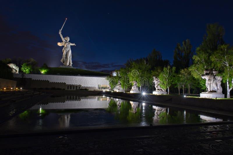 Mamayev Kurgan, Volgograd Stalingrad, Russia fotografia stock libera da diritti