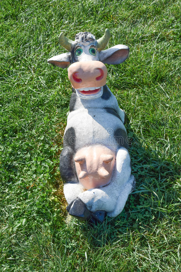 Mamelle menteuse de partie supérieure de vache à jouet images stock